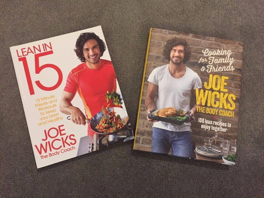 2 x Joe Wicks recipe books **Lean in 15 + Cooking for family & friends** £10