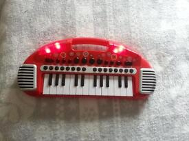 elc red kids keyboard