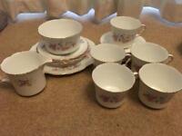 Collingwood collectable tea dinner set bone china pink roses vintage wedding