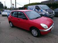 Daihatsu Sirion super small car ideal 1st car 989cc FullMOTServicenew clutch est1985warranty