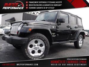 2016 Jeep Wrangler Unlimited Sahara - Cuir - GPS - État neuf!!