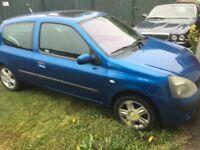 Renault Clio Dynamique 16V 1149cc Petrol 5 speed manual 3 door hatchback 54 Plate 03/12/2004 Blue