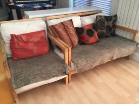 Ikea settees x 2 and chair - frames only