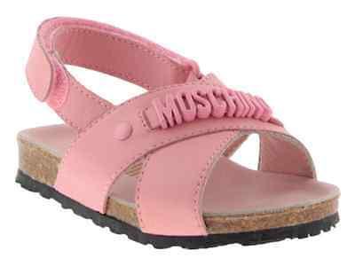 Moschino Kid - teen sandali pelle rosa aperti bambina eleganti cerimonia estate