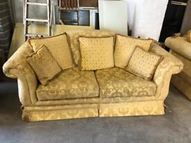 Queen Anne style 3 seater sofa