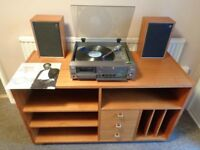 Vintage Danish Teak Hi-Fi/TV Cabinet/Sideboard.