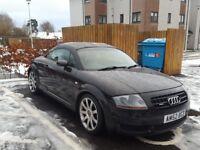 Black Audi Quattro TT coupe