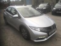 2013 63 Honda civic es 1.6 d-tec 5 dr.(DIESEL FREE TAX)