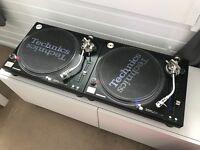 Technics SL 1210 MK5G Turntables Pair + Catridges + Slipmats + Lids