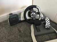 Xbox 360 steering wheel set