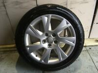 ALLOYS X 4 OF 17 INCH GENUINE AUDI A5 IN EXCELLENT CONDITION WITH A FULL SET OF BRIDGESTONE TYRES