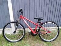 """Red apollo 24"""" bike"""