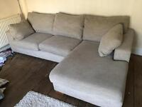 Next Corner Sofa - oatmeal