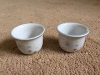 Poole Pottery Dawn Ballet design Egg cups