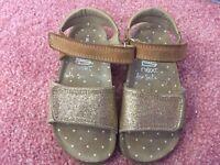 Summer sandals (8) gold glitter