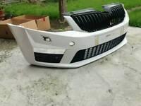 Skoda Octavia vRS Front Bumper 2014 + Model