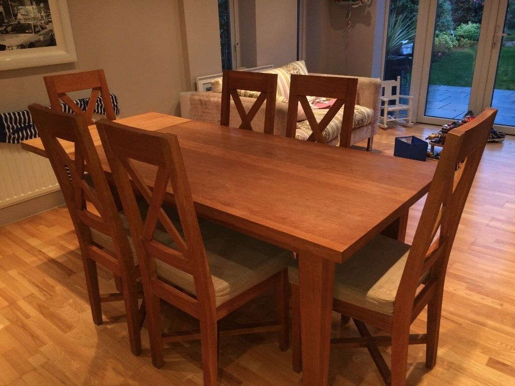 Solid Oak Christian Harold Ardennes 6 seater dining table  : 86 from www.gumtree.com size 1024 x 768 jpeg 103kB