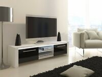 TV stand black and white can deliver