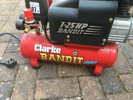 clarke bandit air compressor 1.25 hp
