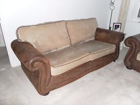3 Seater sofa/2 Seater sofa bed & Footstool