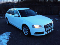 AUDI A4 AVANT 2.0 TDI SE ESTATE 2009 WHITE 6 SPEED AUX BLUETOOTH F.S.H LADY OWNER 2KEYSLONGMOTEXTRAS