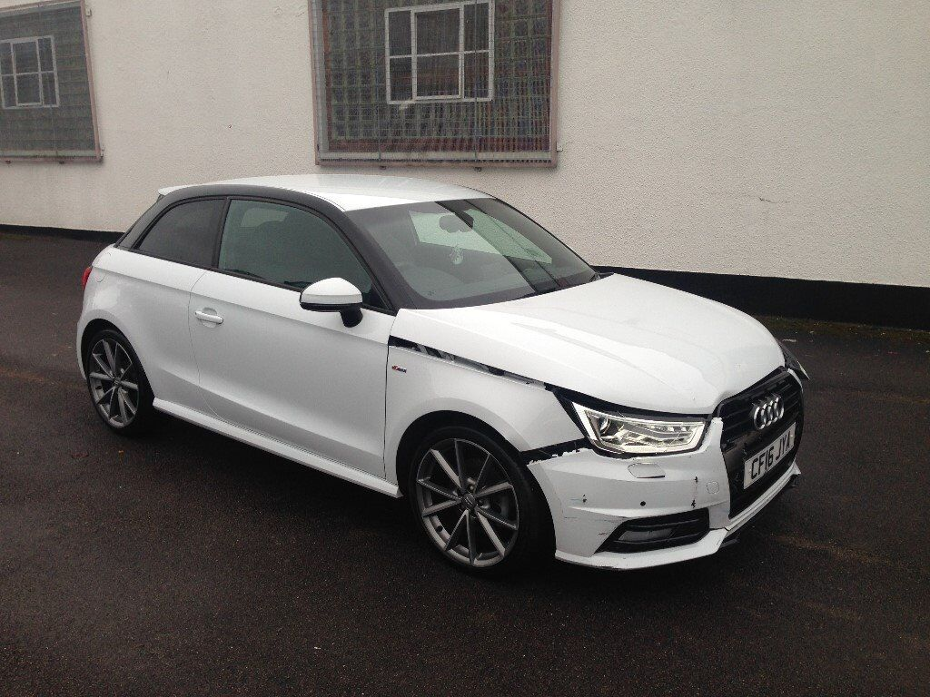 2016 audi a1 s line black edition 1 4 tfsi white damaged salvage repairable in ilford london. Black Bedroom Furniture Sets. Home Design Ideas