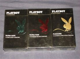 54 Packs Playboy Condoms in Sealed boxes of 12 each box total 648 condom
