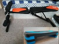Weight Lifting Utility Bench + Adjustable Stepper