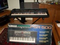 Yamaha PSR500 boxed with stand & sustain pedal