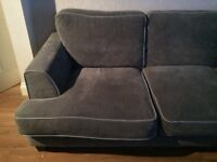 Grey right hand style corner sofa