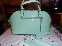 Very Pretty Light patent Turquoise Handbag soulder Bag new