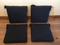 4 HANDMADE SEAT CUSHIONS