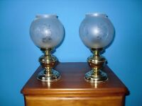Victoriana style bedside lamps
