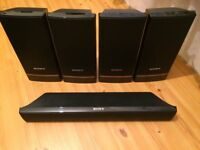 SONY HOME CINEMA 5 SPEAKERS, FULLY WORKING, CRYSTAL CLEAR SOUND, EXCELLENT CONDITION.