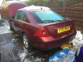 03 mondeo 2.5 v6 ghia x breaking , all parts available