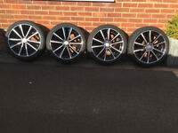 "Set of 4 Genuine 18"" AMG Mercedes Benz Multi Spoke Wheels and Tyres - Absolutely stunning"