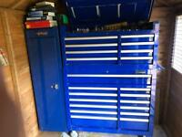 Toolbox with tools snap on blue point britool