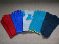 NEW 5 PAIRS WELDING LEATHER GLOVES WELDERS GAUNTLETS HEAT RESISTANT SAFETY PPE