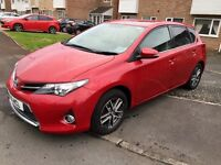 Toyota Auris, 2015, Red, 1.6 Petrol, 6 Speed Manual, Only 21k Low Miles, TOP SPEC, Excellent Car.