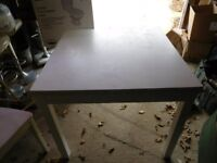 White Ikea Kitchen Table 4 Chairs