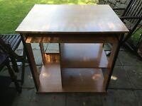 Beech wood computer desk