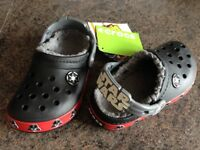 Brand new Star Wars lined crocs size 10-11