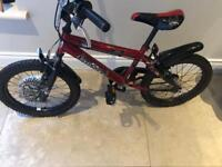 Boys age 7-10 excellent condition Last Exit bike & helmet red and black
