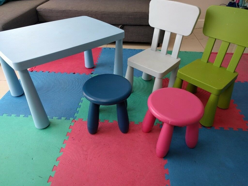 Ikea Mammut Children S Table Chairs And Stools