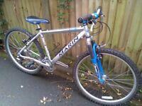 "Marin Hawk Hill Ovation bike 17"" frame, 26"" wheels , 24 speed , front suspension in good condition"