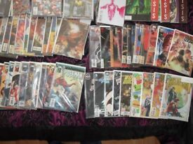 Boxes of comics for sale