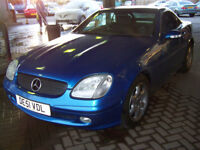 MERCEDES SLK HARD TOP CONVERTIBLE AUTOMATIC LOVELY CONDITION LOW MILAGE MOT,D JUNE 2018 ONLY £1995