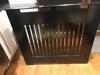 Bespoke black radiator cover 35x 35 radiator size