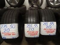 """BRANDED 20"""" & 21"""" PERFORMANCE TYRES NEW AND AS NEW FROM £50-£60 loads more txt tyre size for p & av"""
