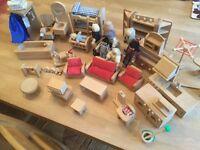 Wooden Dolls House Toys
